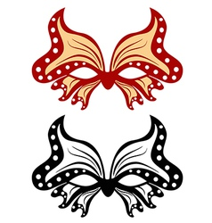 Image masquerade mask in the shape of a butterfly vector image vector image