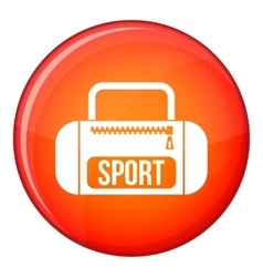 Sports bag icon flat style vector image vector image