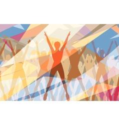 Aerobic color vector image vector image