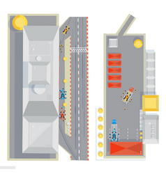 race track flat composition vector image vector image