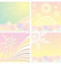 retro background set vector image vector image