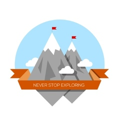 Mountain low-poly style vector image