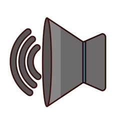speaker sound icon image vector image vector image
