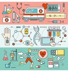 System Technology for Health Research vector image vector image