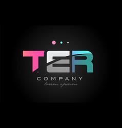 ter t e r three letter logo icon design vector image