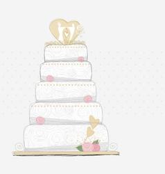 Wedding cake design vector image vector image