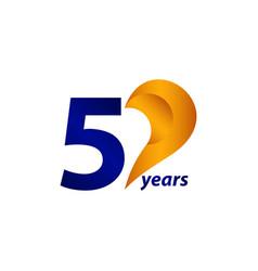 50 years anniversary celebration gold blue unique vector