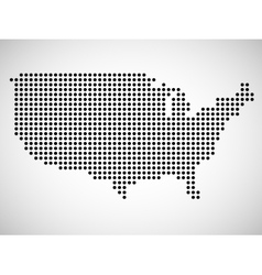 Abstract map of USA from round dots vector image