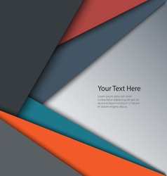 Abstract retro color triangles background vector