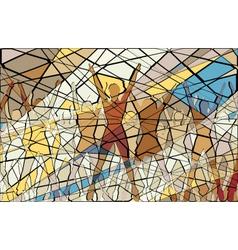 Aerobic mosaic vector image