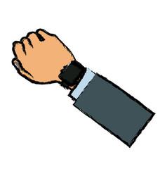 Arm hand watch sport design vector
