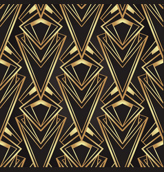 Art deco style geometric seamless pattern in black vector