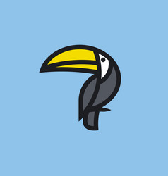 bold line icon or logo template of toucan vector image