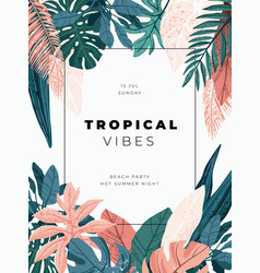 Bright and trandy summer hawaiian banner party vector
