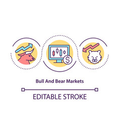 bull and bear markets concept icon vector image
