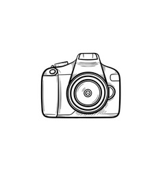 Camera hand drawn outline doodle icon vector