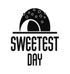 candy sweet day logo simple style vector image