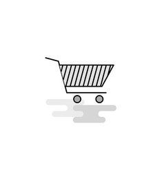 cart web icon flat line filled gray icon vector image