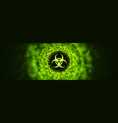 caution biohazard epidemic banner toxic vector image