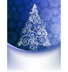 Christmas Tree Greeting Card EPS 8 vector