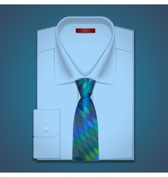 Classic shirt and tie vector