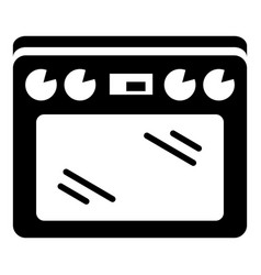 cooker icon simple style vector image