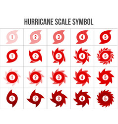 Creative of hurricane scale vector