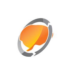 Creative thinking logo design template vector