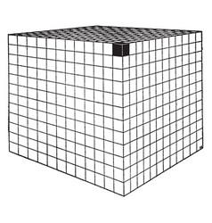 Cube area vintage vector
