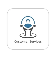 Customer Service Icon Business Concept vector image