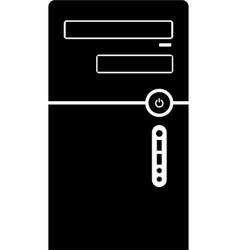 Desktop computer case icon vector