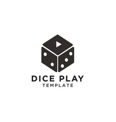 dice play graphic design template vector image