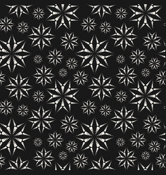 Dotted floral seamless pattern subtle abstract vector