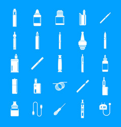 electronic cigarette mod icons set simple style vector image