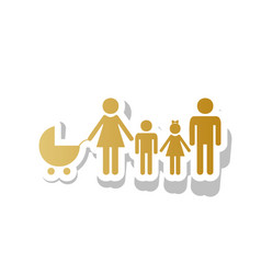 family sign golden gradient vector image