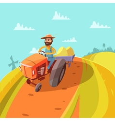 Farmer Cartoon Background vector