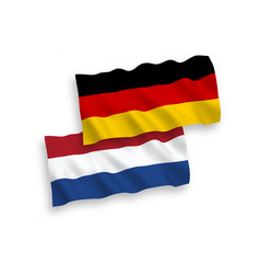 Flags netherlands and germany on a white vector