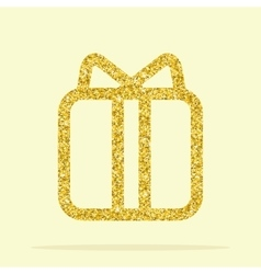 golden figure gift vector image