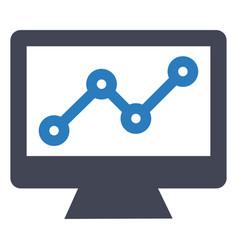 Growth increase profit icon vector