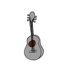 guitar instrument icon image vector image