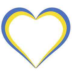 heart shape flag of ukraine i love ukraine vector image