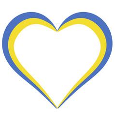 heart shape flag ukraine i love ukraine vector image