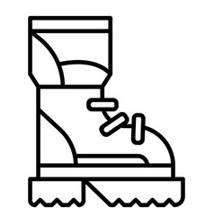 hiking boot icon outline style vector image