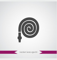 Hose icon simple vector