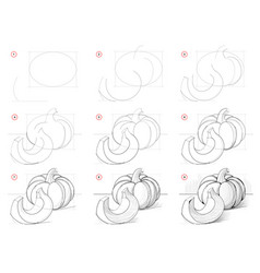 How to draw step-wise picture still life vector