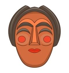 Korean mask icon cartoon style vector