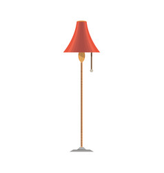 lamp flat icon front view isolated furniture vector image