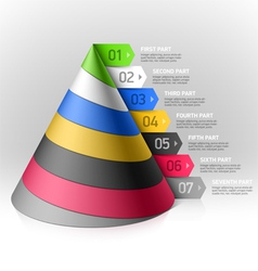 Layered cone design element vector