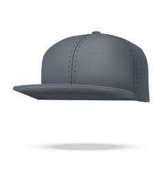 Layout of Male black rap cap vector image