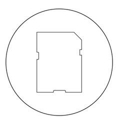 Memory card icon black color in circle vector